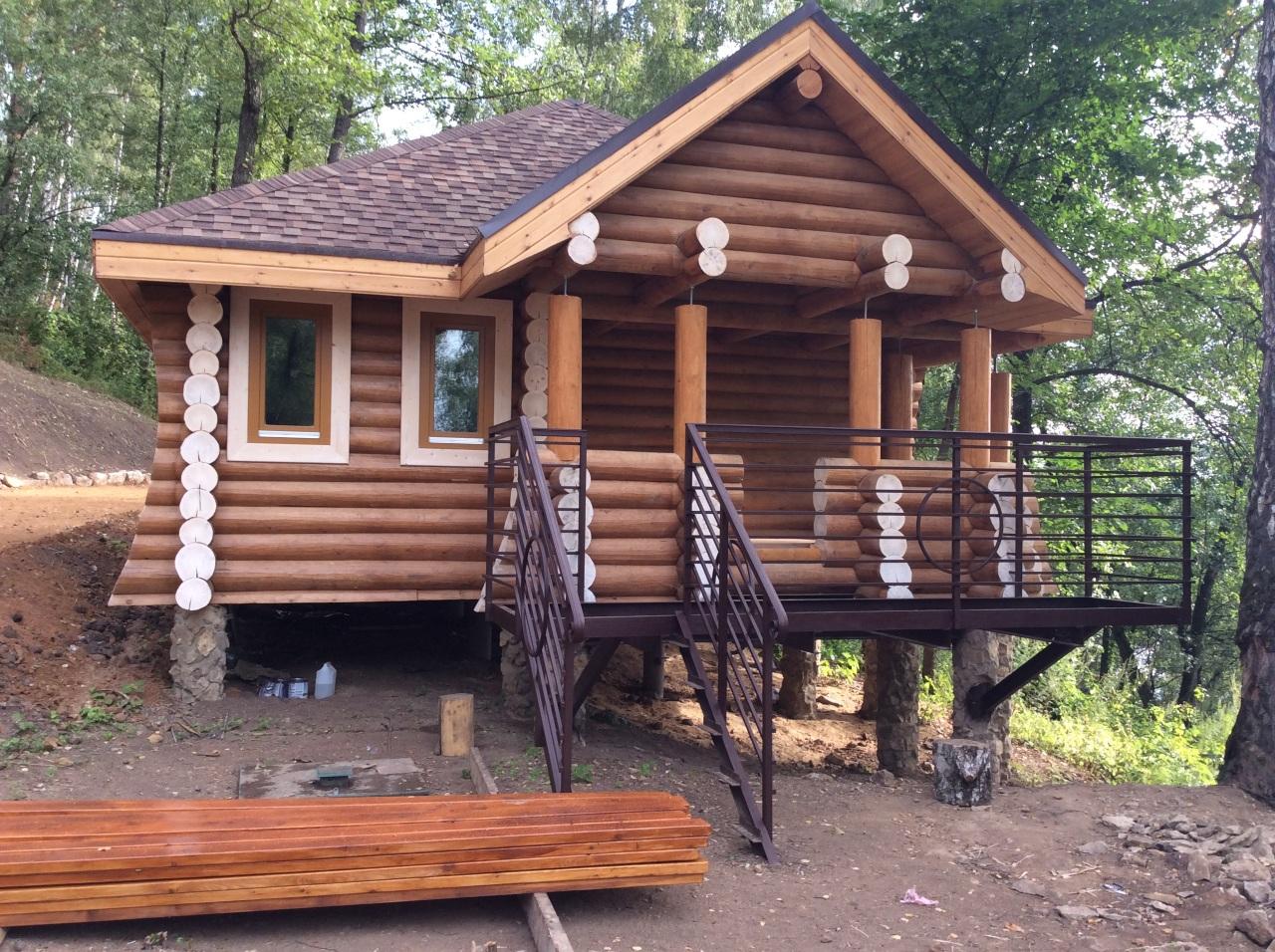 проект деревянного дома архилес