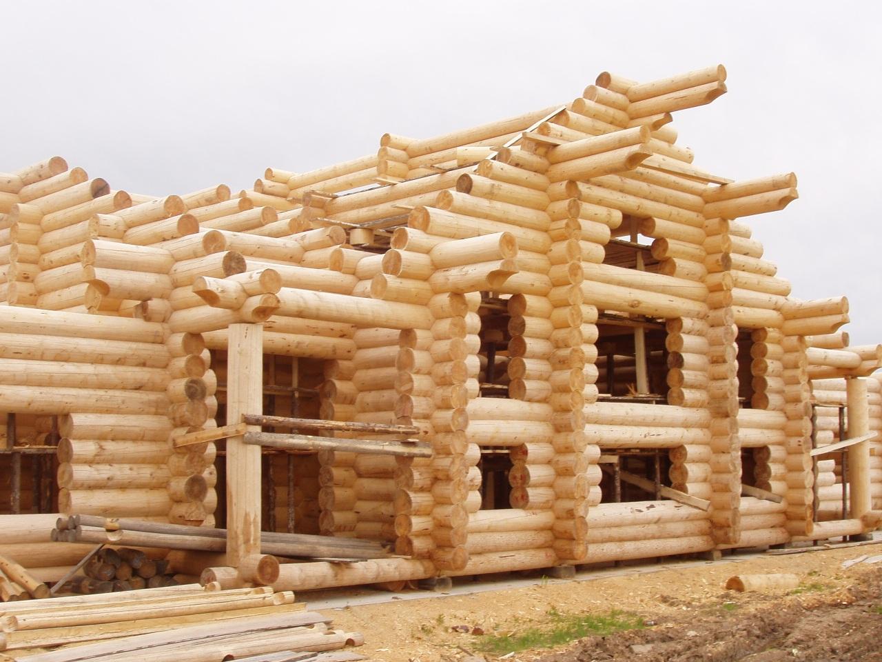 стройка дома из сруба архилес
