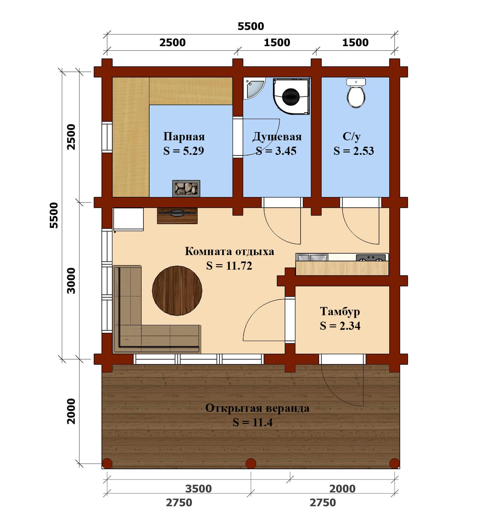 План баня 908