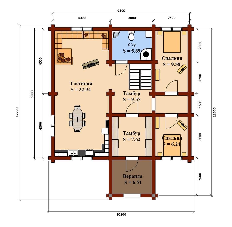 План 1 эт дом Фандеев
