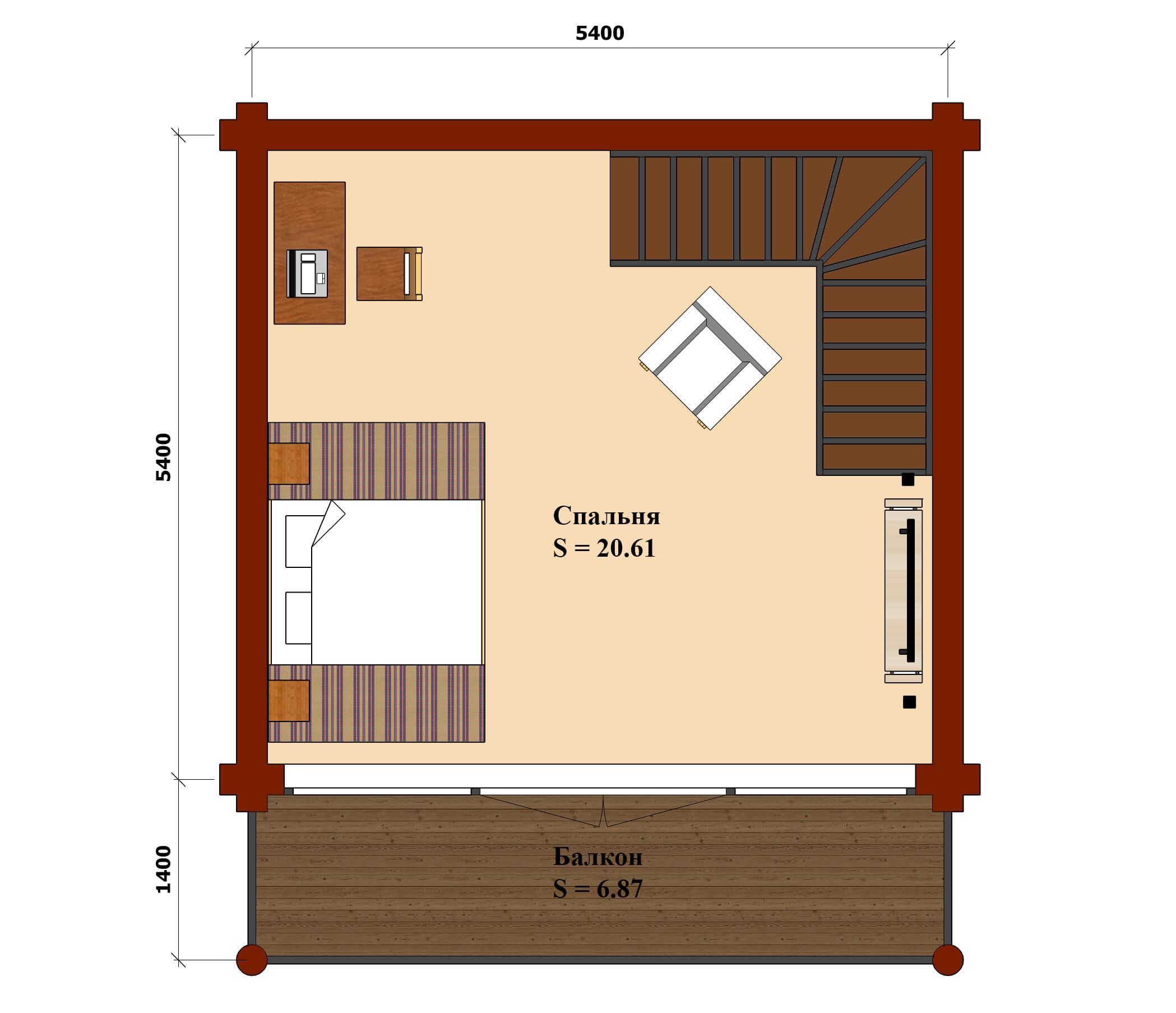 План 2 этаж офис тула