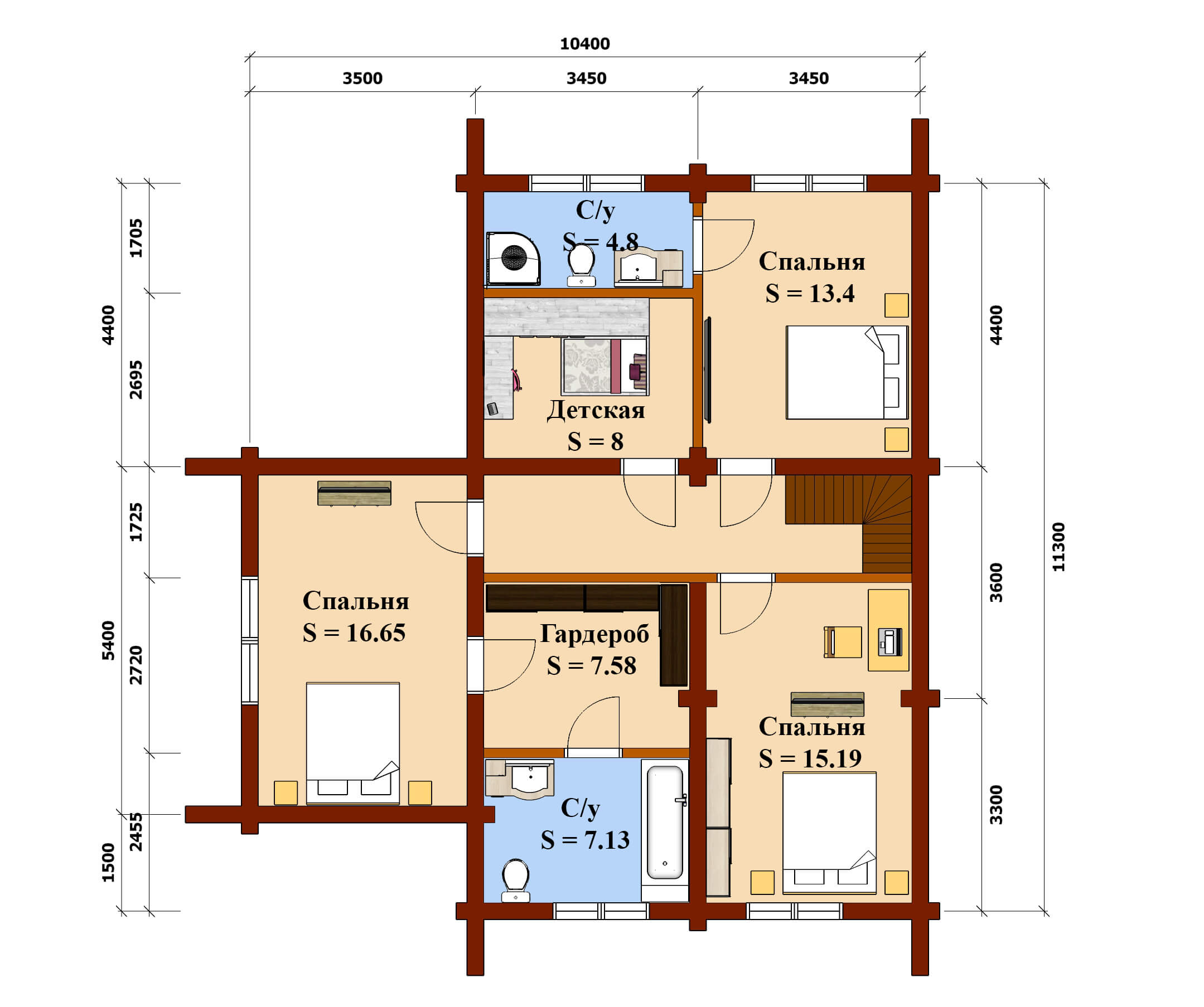 План 2 эт дом Тимур